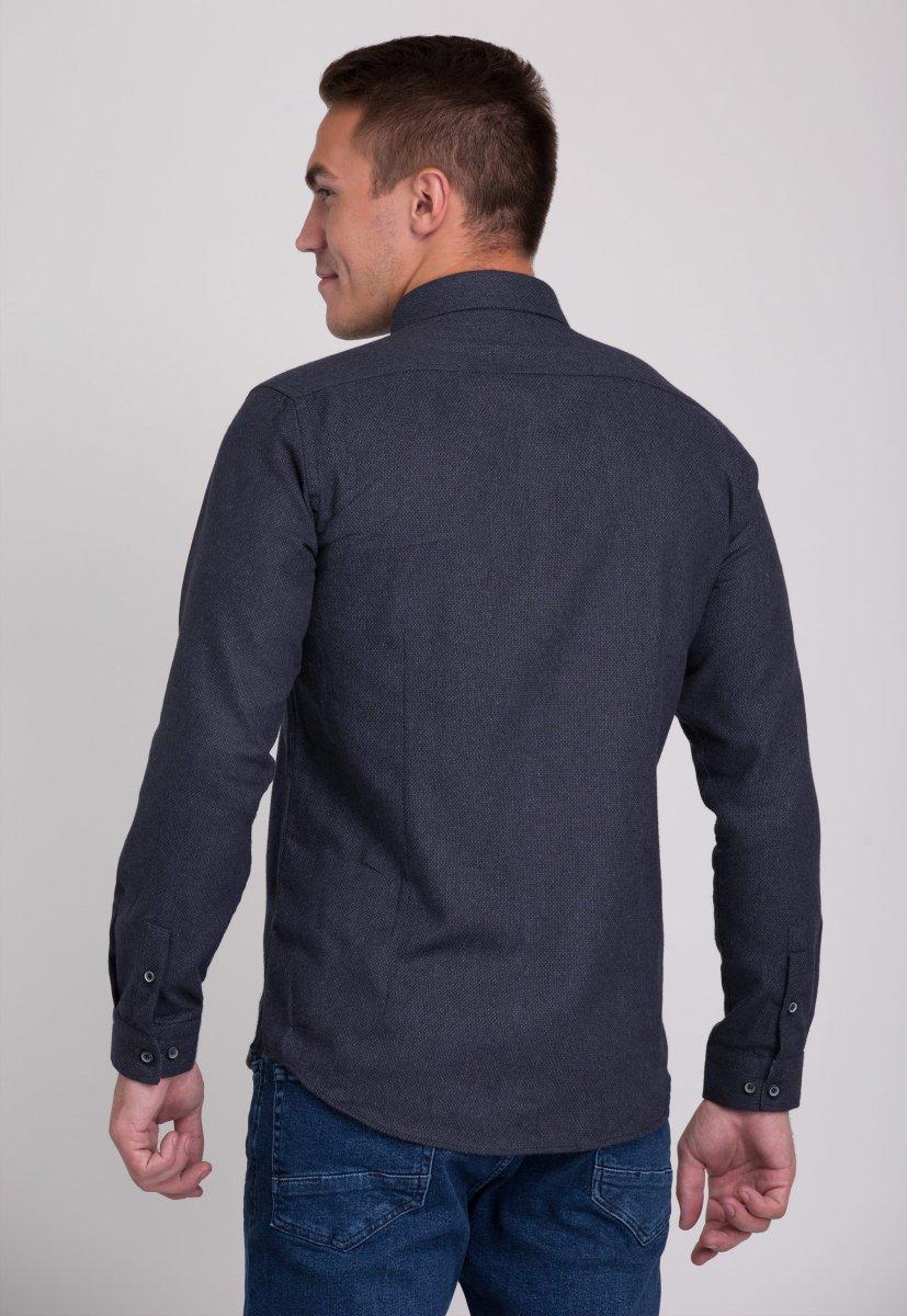 Рубашка мужская Trend Collection 7007 Серый №9 - Фото 2