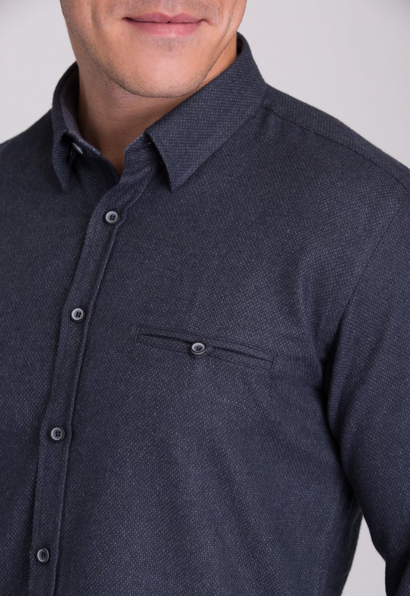 Рубашка мужская Trend Collection 7007 Серый №9 - Фото 3