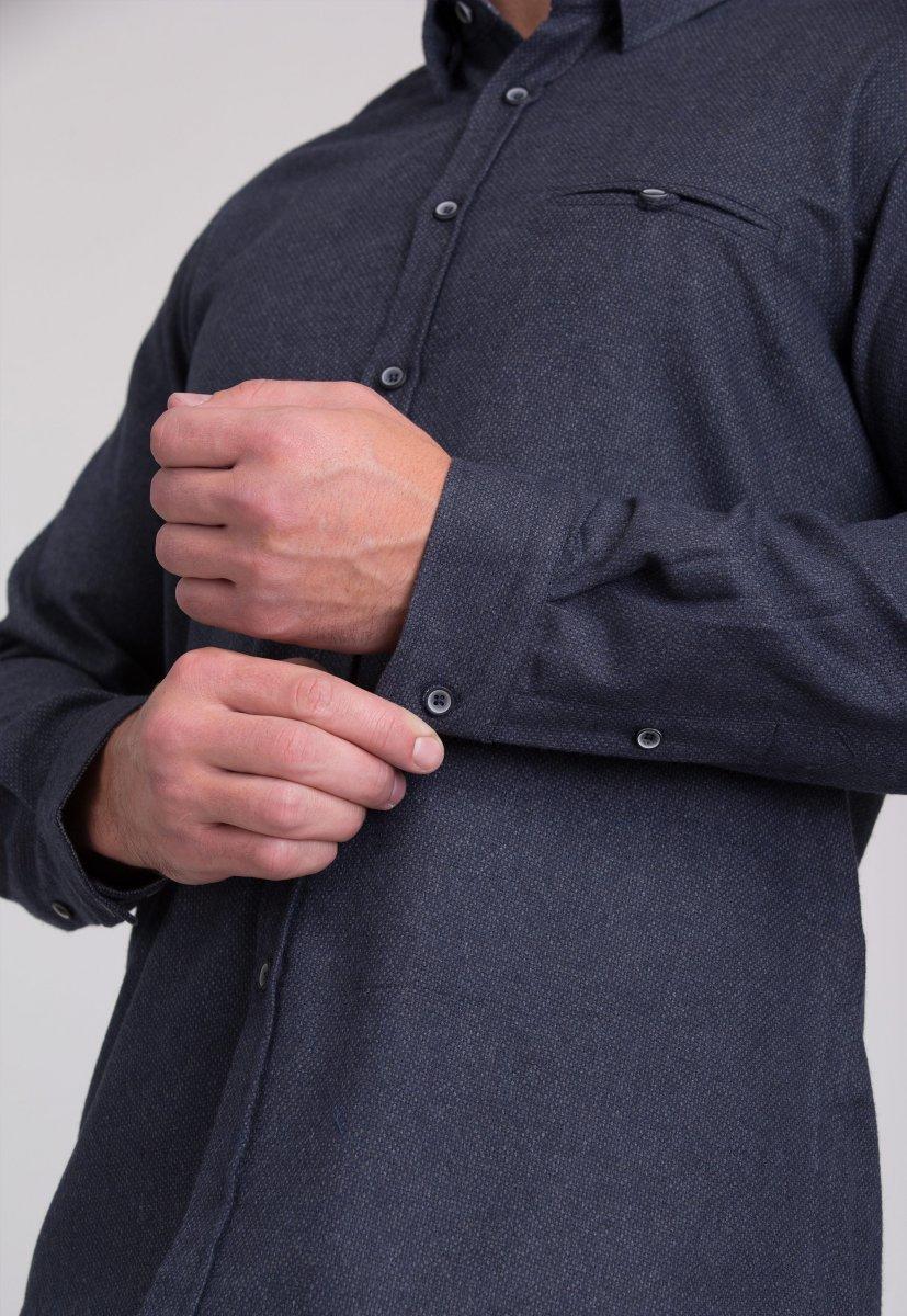Рубашка мужская Trend Collection 7007 Серый №9 - Фото 4