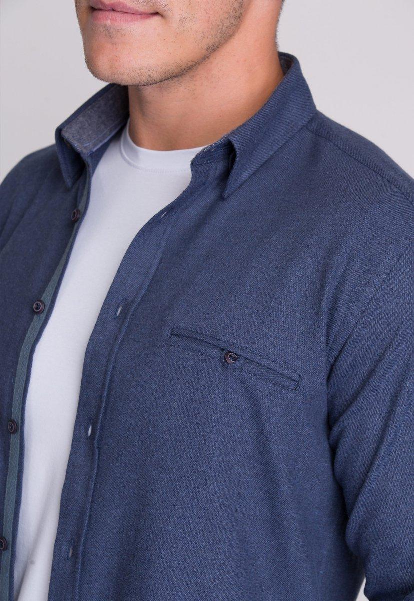 Рубашка мужская Trend Collection 7007 Синий - Фото 3