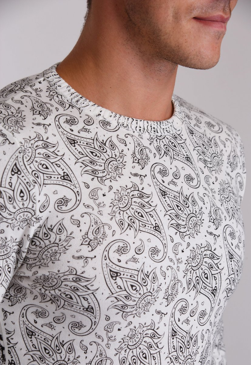 Свитер Trend Collection 0257 Белый+узор - Фото 1