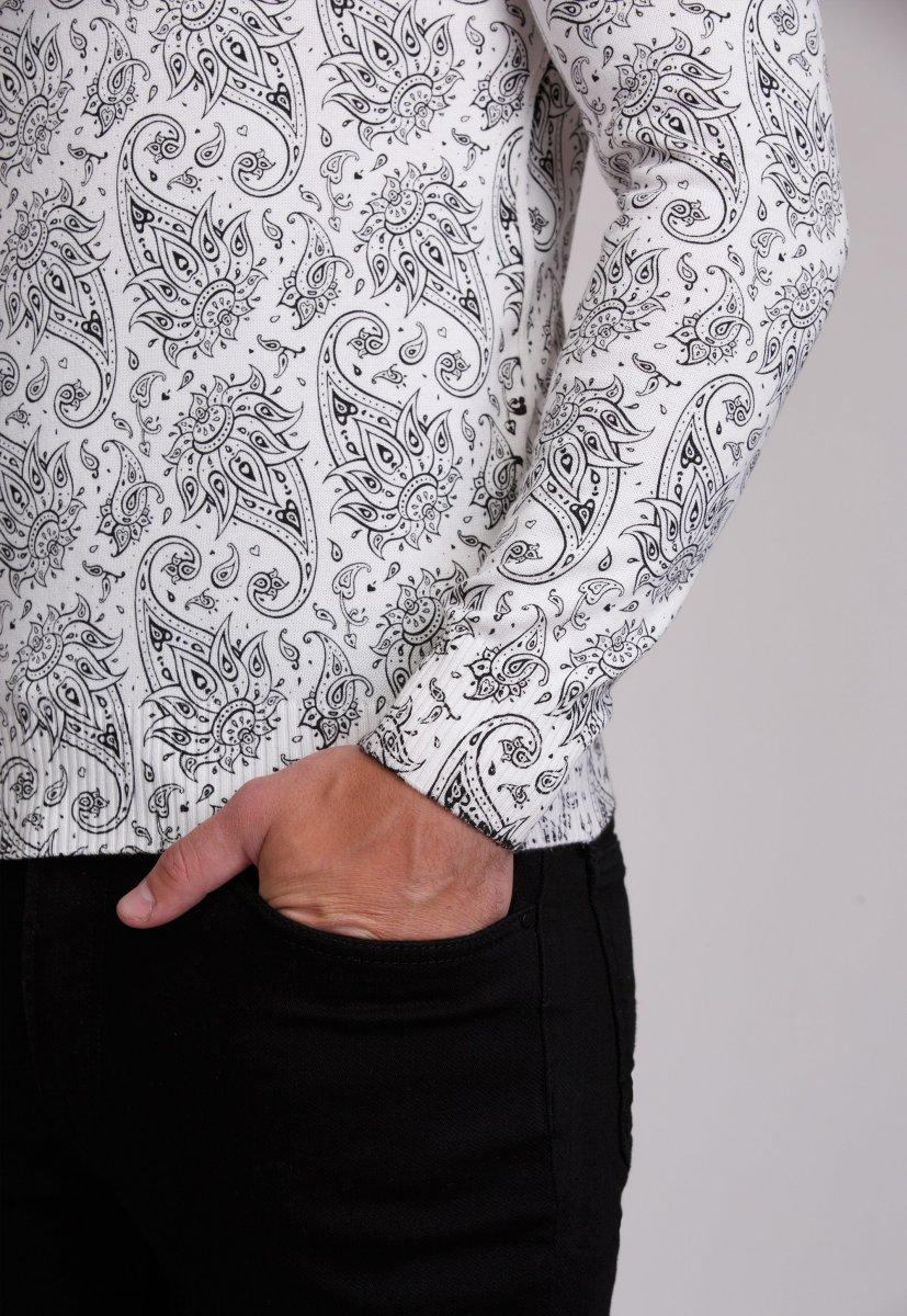 Свитер Trend Collection 0257 Белый+узор - Фото 2