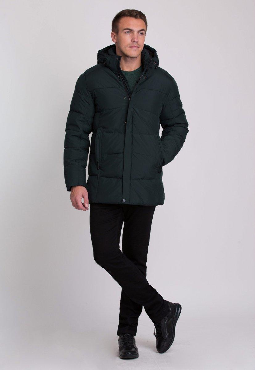 Куртка Trend Collection W09 Черный+зеленый №9 - Фото