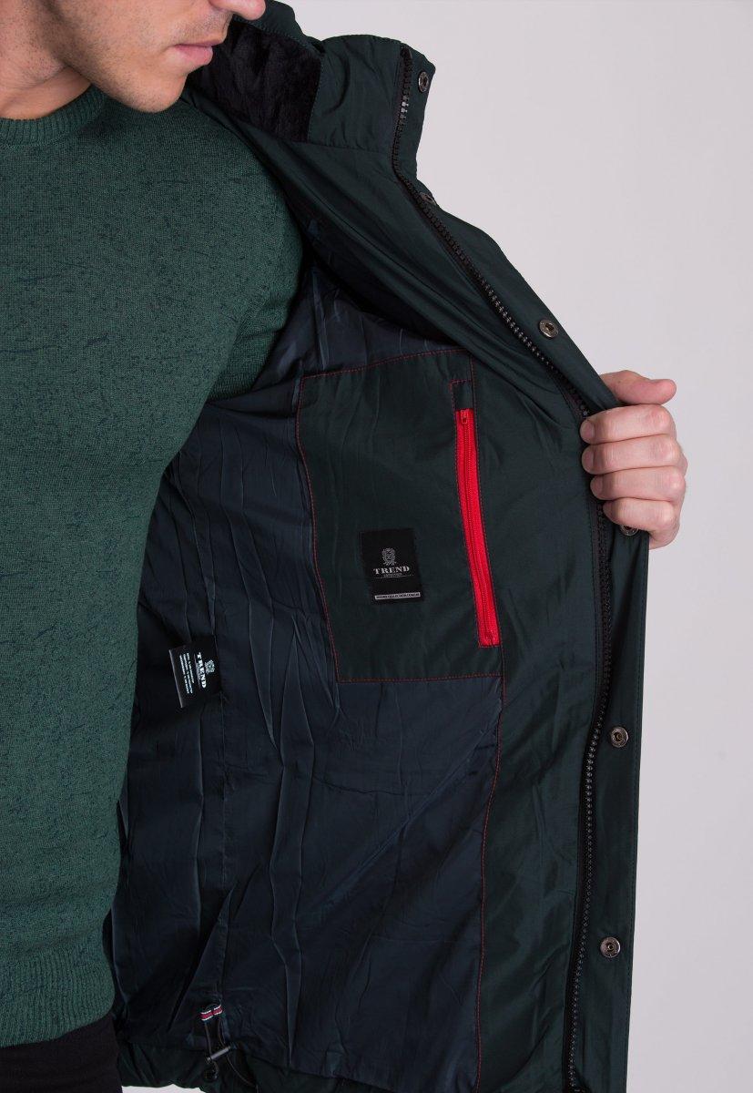 Куртка Trend Collection W09 Черный+зеленый №9 - Фото 6