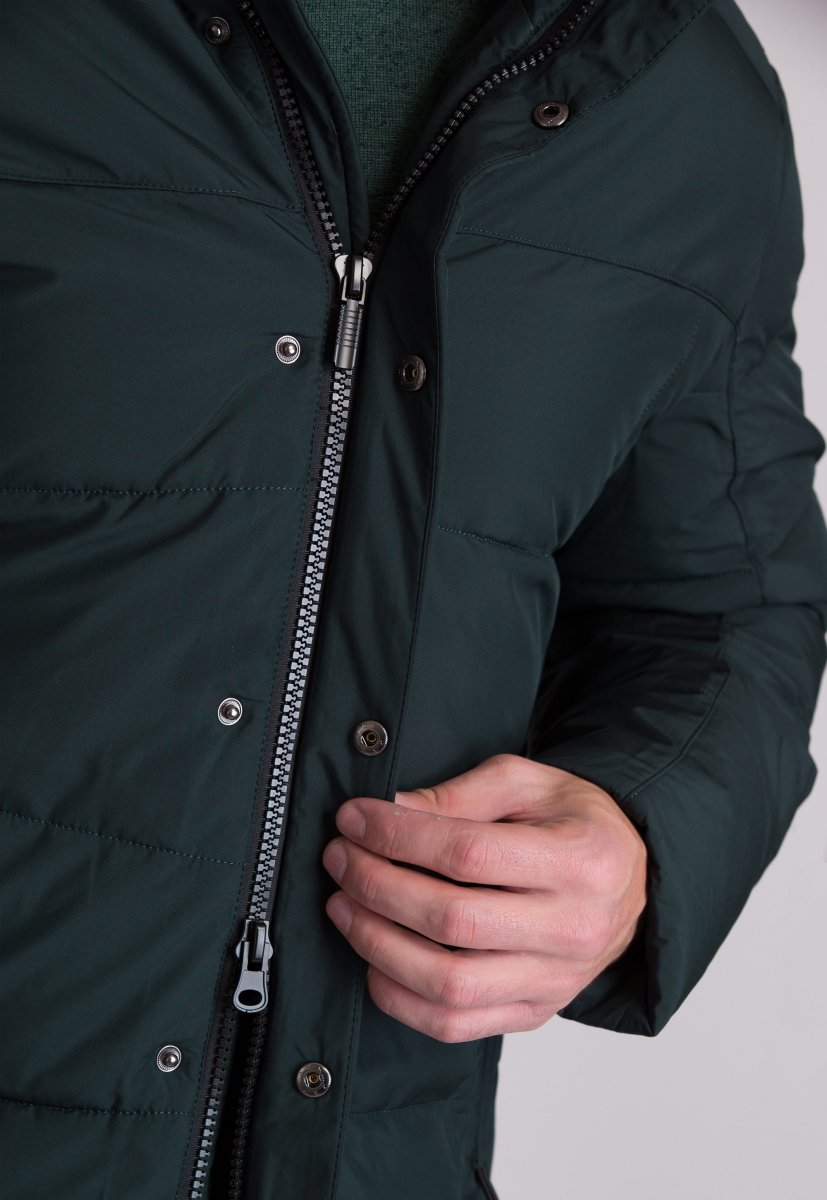 Куртка Trend Collection W09 Черный+зеленый №9 - Фото 7