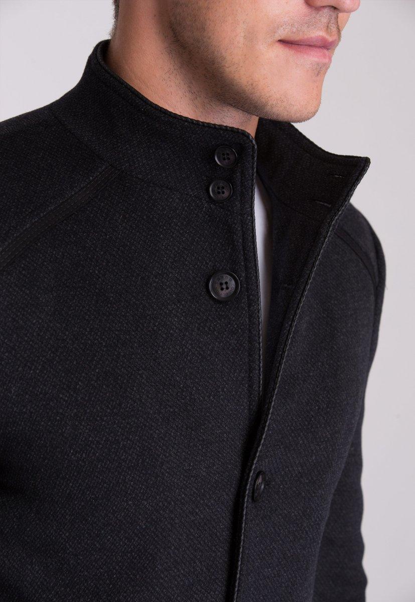 Пальто Trend Collection 515 Темно-серый - Фото 5