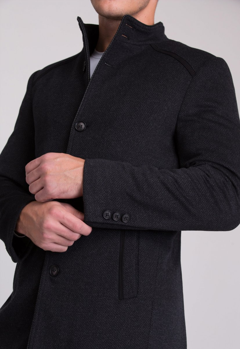Пальто Trend Collection 515 Темно-серый - Фото 7