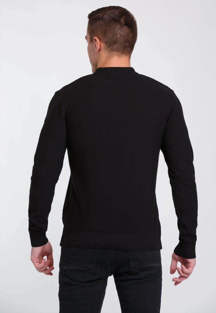 Джемпер Trend Collection 0262 Черный+пуговицы - Фото