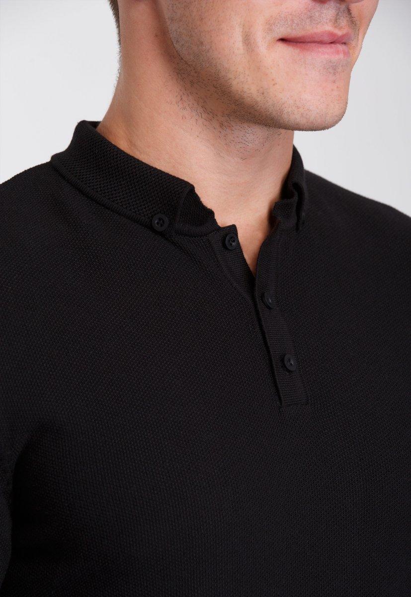 Джемпер Trend Collection 0262 Черный+пуговицы - Фото 1