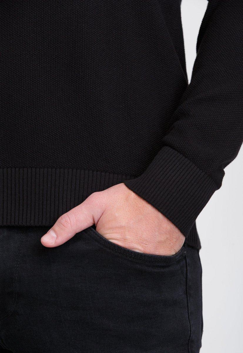 Джемпер Trend Collection 0262 Черный+пуговицы - Фото 2