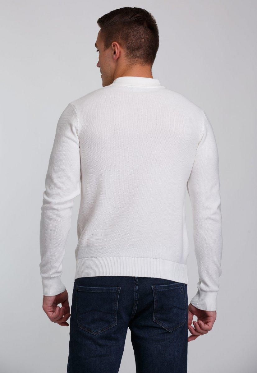 Джемпер Trend Collection 0262 Белый+пуговицы - Фото 1