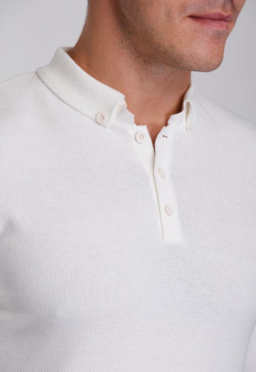 Джемпер Trend Collection 0262 Белый+пуговицы - Фото 2
