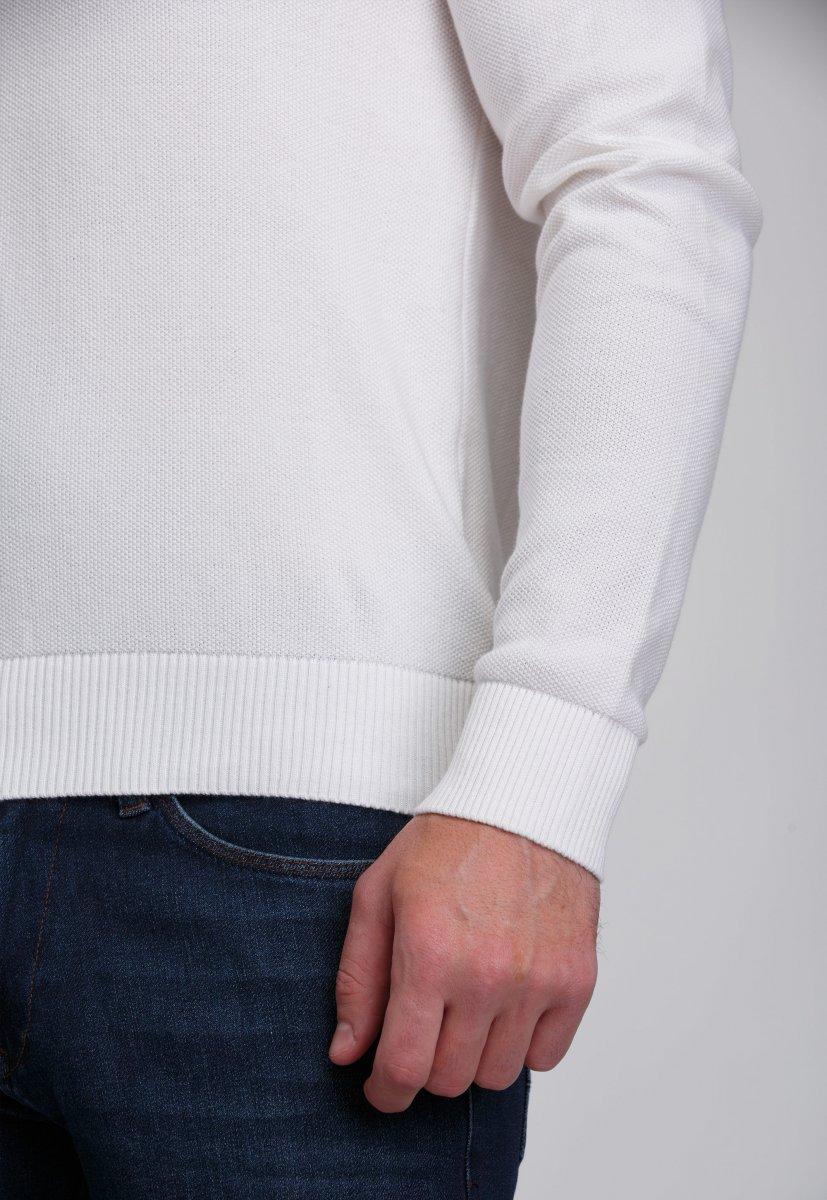 Джемпер Trend Collection 0262 Белый+пуговицы - Фото 3