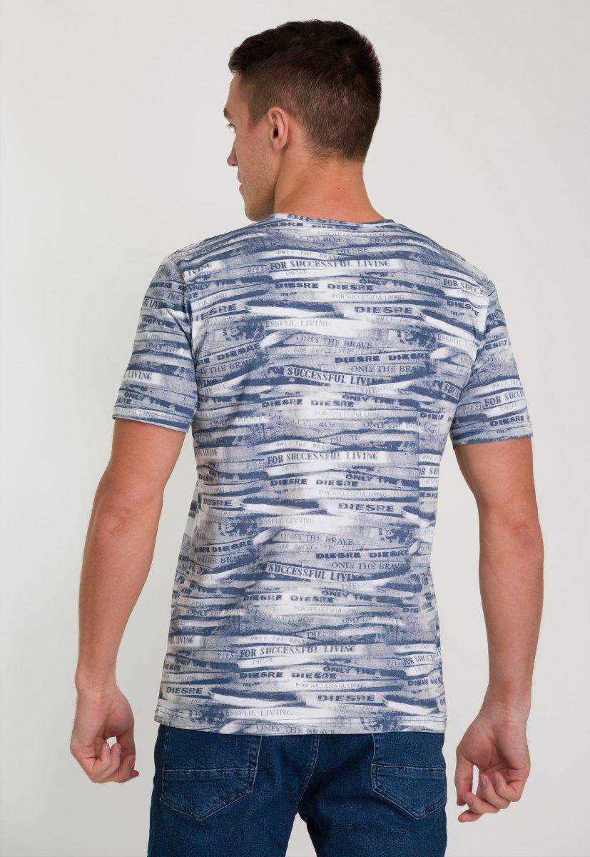 Футболка Trend Collection 8014 Синий+белый - Фото 1