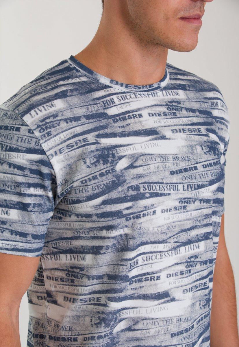 Футболка Trend Collection 8014 Синий+белый - Фото 2