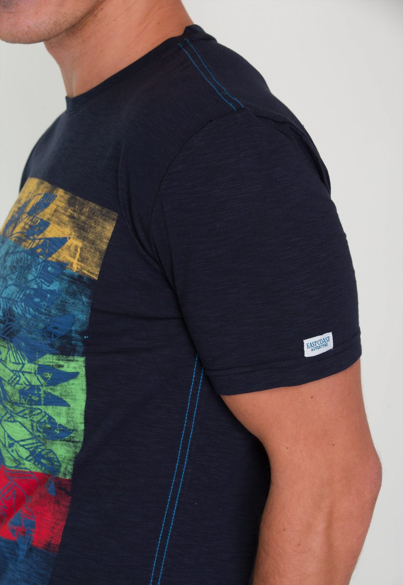 Футболка Trend Collection 8057 Темно-синий+перья - Фото 3