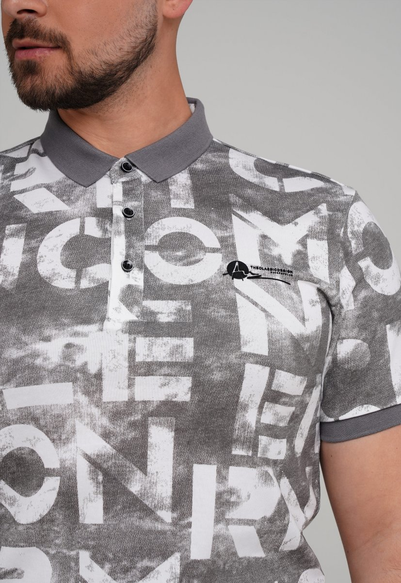 Футболка Trend Collection 21017 Серый+буквы - Фото 1