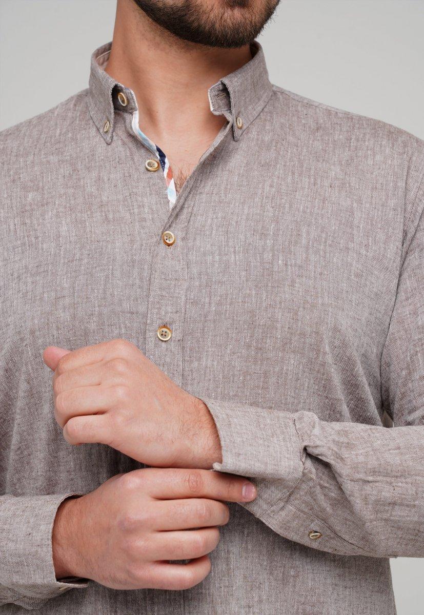 Рубашка Trend Collection 02-1001-1 Бежевый - Фото 1