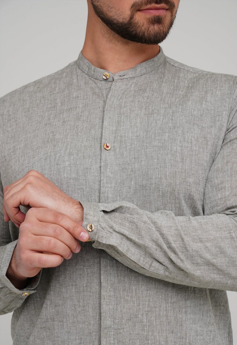 Рубашка Trend Collection 02-154 Хаки - Фото 1