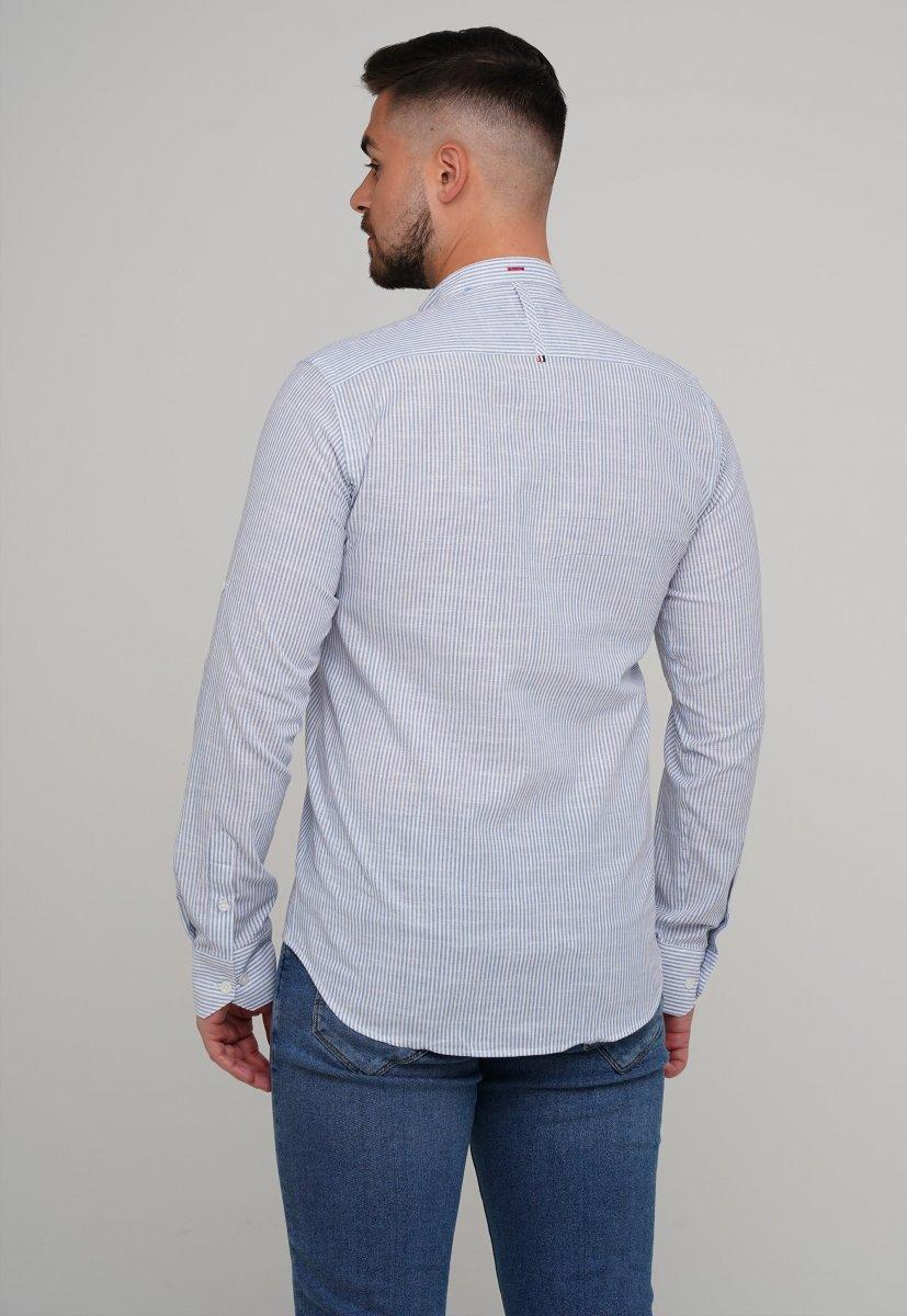 Рубашка Trend Collection 02-160 Белый + Синяя полоска - Фото