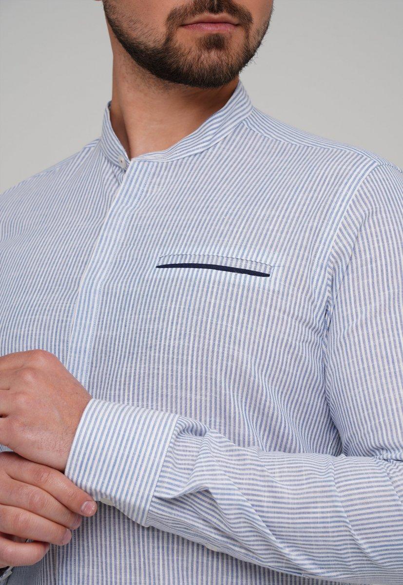 Рубашка Trend Collection 02-160 Белый + Синяя полоска - Фото 1