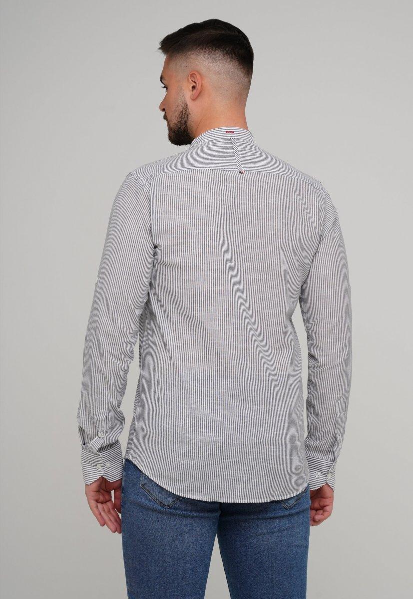 Рубашка Trend Collection 02-160 Белый + Т.синяя полоска - Фото