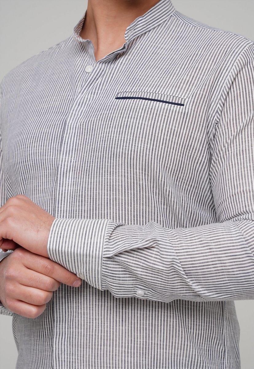 Рубашка Trend Collection 02-160 Белый + Т.синяя полоска - Фото 1