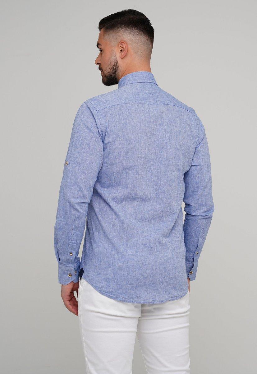 Рубашка Trend Collection 02-1001-1 Небесный - Фото