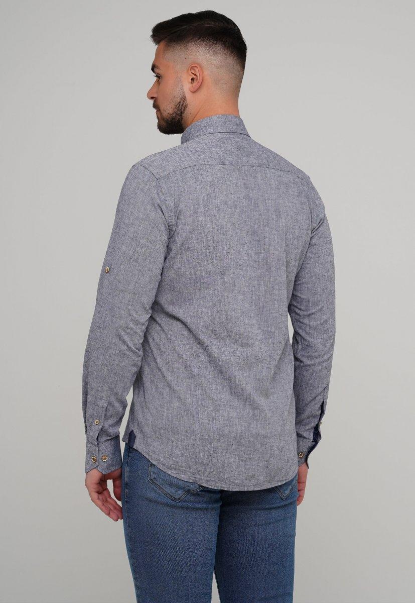 Рубашка Trend Collection 02-1001-1 Сине-серый - Фото