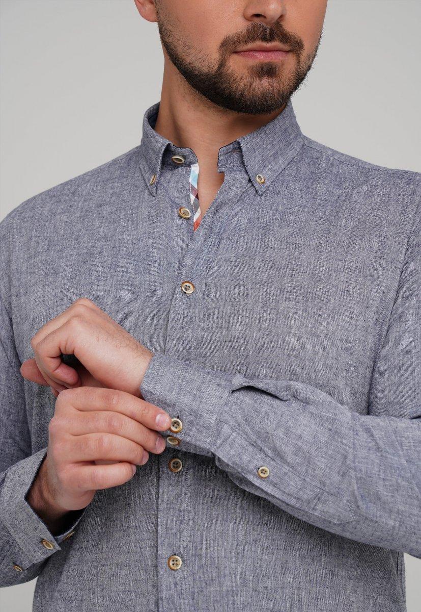 Рубашка Trend Collection 02-1001-1 Сине-серый - Фото 1
