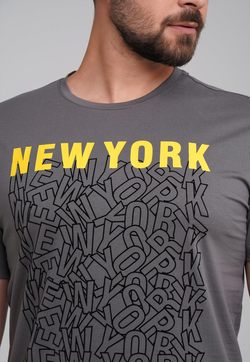 Футболка Trend Collection 99009 Серый+буквы - Фото 1