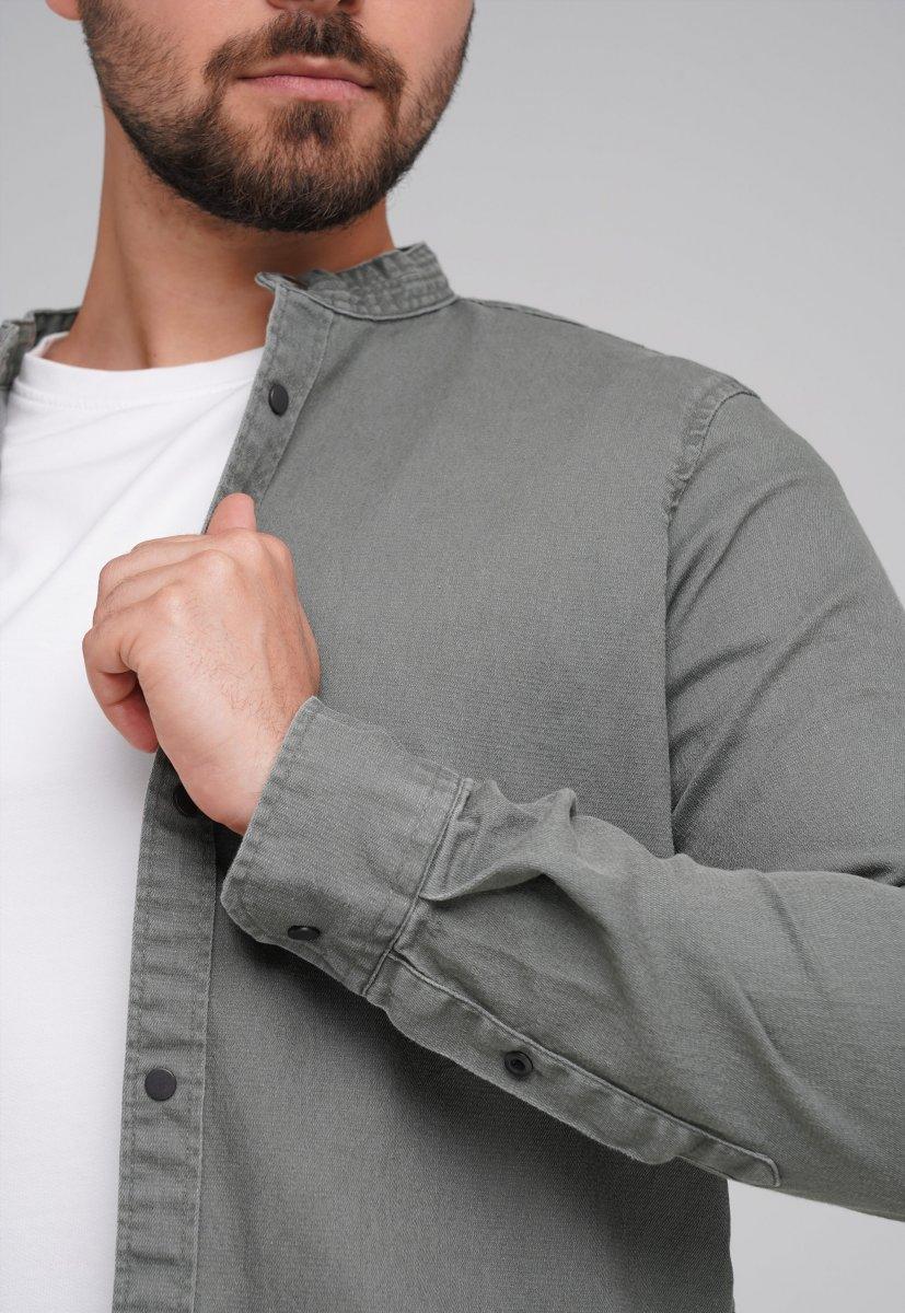 Рубашка FIGO 18127 хаки - Фото 1