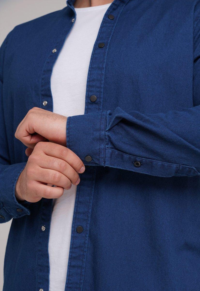 Рубашка FIGO 18127 Индиго - Фото 1