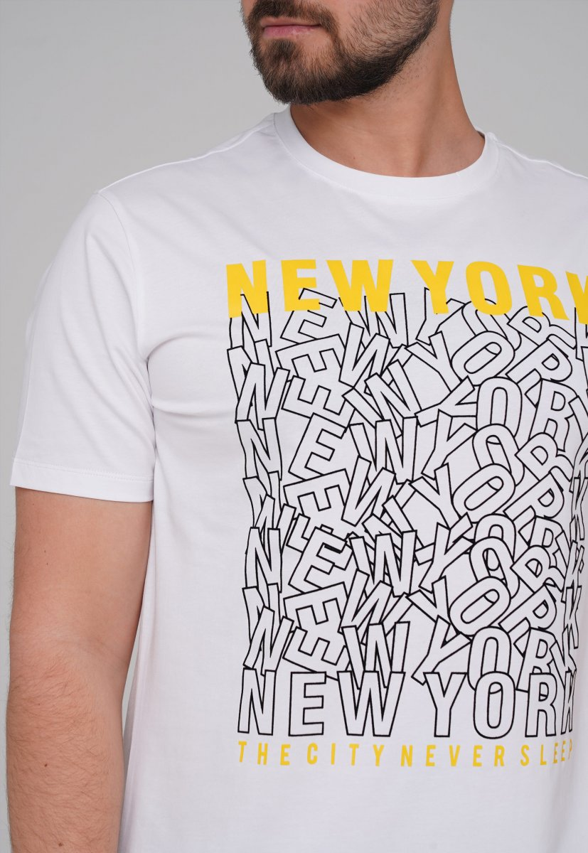 Футболка Trend Collection 99009 Белый+буквы - Фото 1