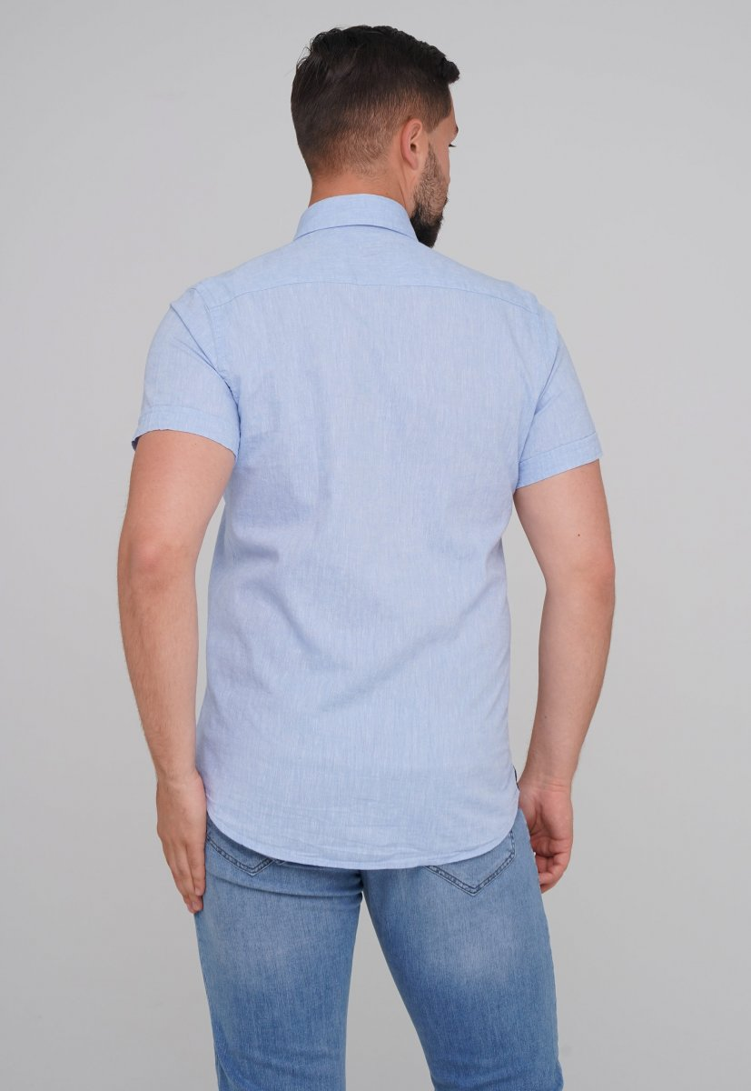 Рубашка Trend Collection 6001-1 Небесный - Фото