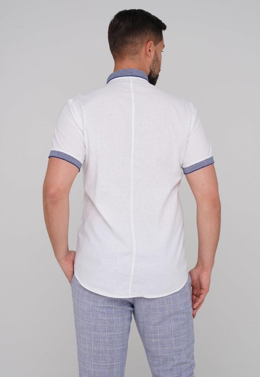 Рубашка Trend Collection 6003-1 белый + синий - Фото 1