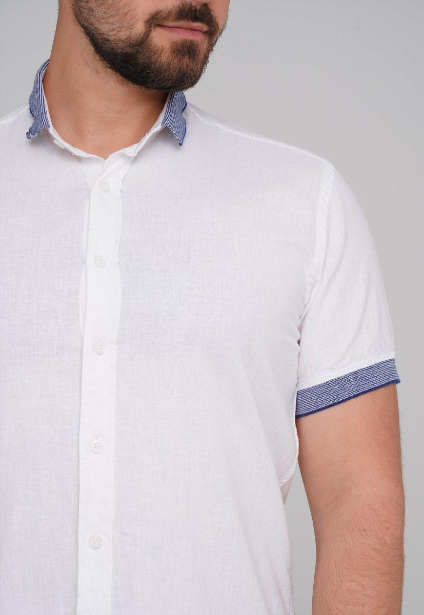 Рубашка Trend Collection 6003-1 белый + синий - Фото