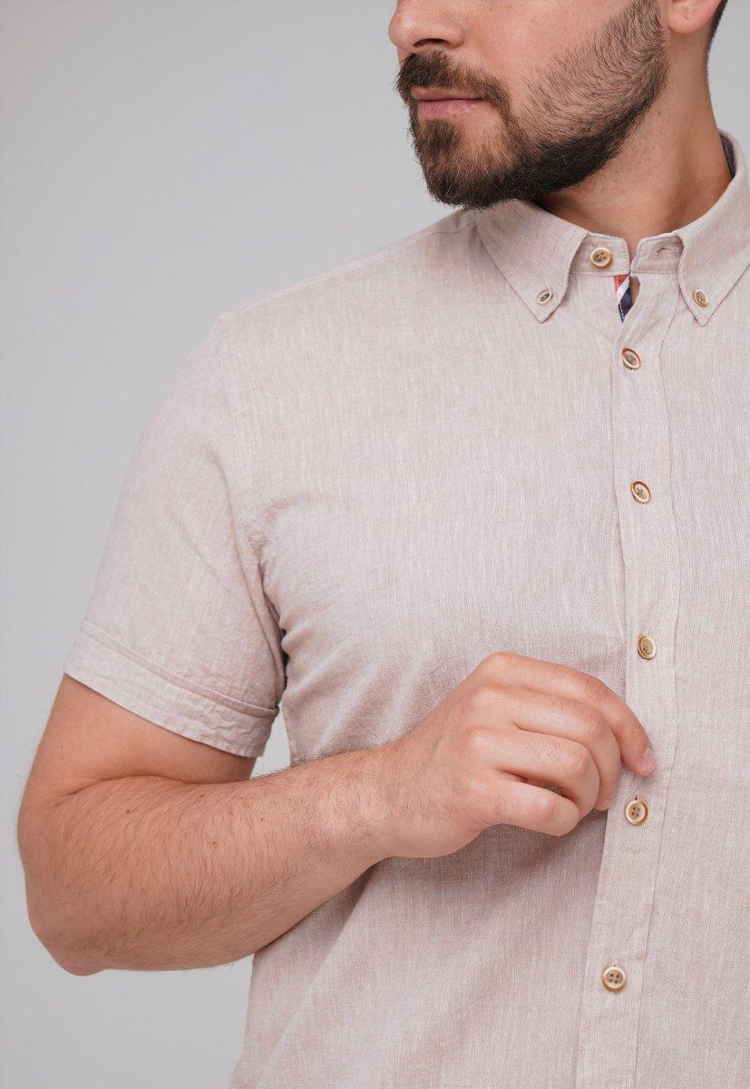 Рубашка Trend Collection BAT 8001-1 бежевый - Фото 1