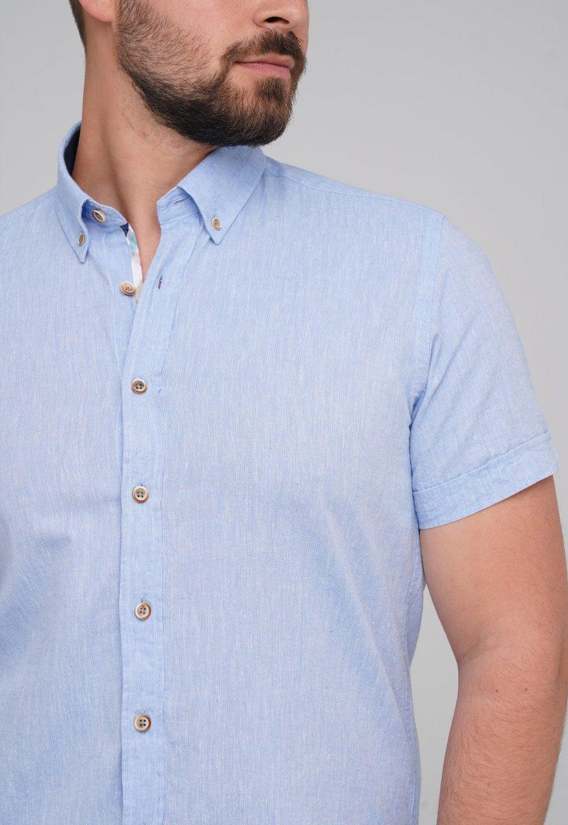 Рубашка Trend Collection BAT 8001-1 Небесный - Фото 1