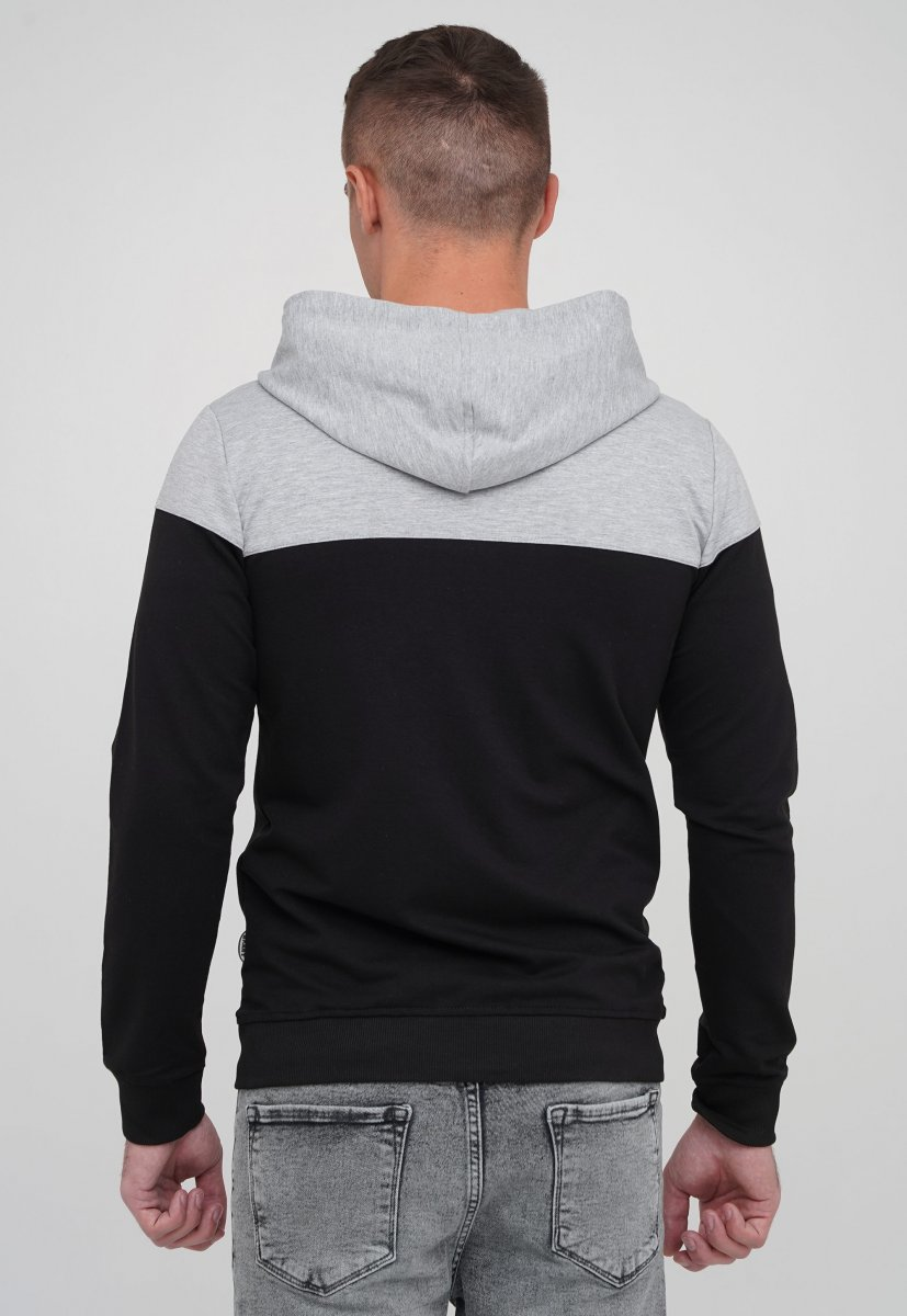 Кофта на замке Trend Collection 87003 Серый+черный (SIYAH) - Фото 2